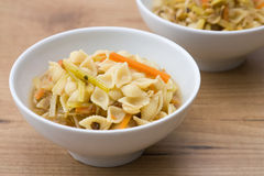 Noodle Soup with Vegetables Royalty Free Stock Photography