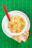 Noodle soup with vegetables Stock Photo