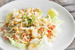 Noodle,Stir-fried noodle with chicken Royalty Free Stock Photos