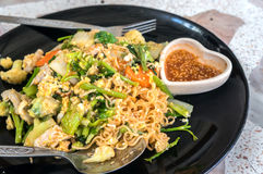 Noodle stir fry with vegetable ,name is Sookie. Noodle stir fry with vegetable ,Thai name is Sookie royalty free stock photo