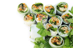 NOODLE Thai apply style vegetables roll. Royalty Free Stock Photos