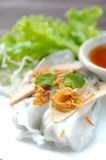 NOODLE Thai apply style vegetables roll. 