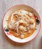 Noodle or Thai noodle. Or northern thai noodle royalty free stock photo