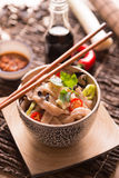 Noodle Udon. Asian food composition Stock Photography