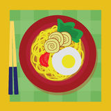 Noodle vector. Illustration with simple design Royalty Free Stock Photo