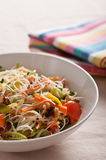 Noodle and vegetable salad Stock Image
