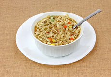 Noodle and Vegetable Soup Stock Image