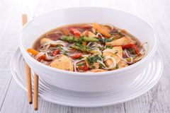 Noodle and vegetable soup Royalty Free Stock Image