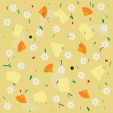 Noodle and vegetable soup seamless pattern Royalty Free Stock Photography