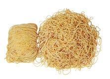 Noodle Wonton. Raw noodle wonton isolated on white background stock photography