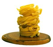 Noodle on wooden support Stock Photo