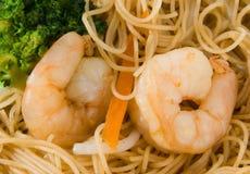 noodles βασιλιάδων ρύζι γαρίδων Στοκ Φωτογραφίες