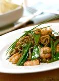 noodles γαρίδα πιάτων Στοκ Εικόνες
