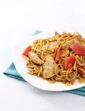 noodles κοτόπουλου satay Στοκ Φωτογραφία