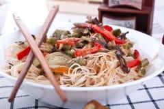noodles λαχανικά ρυζιού Στοκ Εικόνα