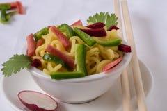 Noodles με τα λαχανικά Στοκ Εικόνες