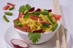 Noodles με τα λαχανικά Στοκ φωτογραφία με δικαίωμα ελεύθερης χρήσης