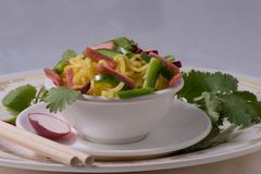 Noodles με τα λαχανικά Στοκ φωτογραφίες με δικαίωμα ελεύθερης χρήσης
