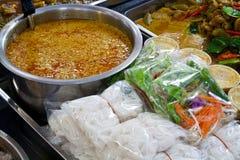 Noodles με το κάρρυ ψαριών Στοκ εικόνα με δικαίωμα ελεύθερης χρήσης