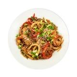 Noodles με το κρέας Στοκ Εικόνες