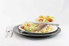 noodles οσφυϊκών χωρών χοιρινό κρέας Στοκ Φωτογραφία