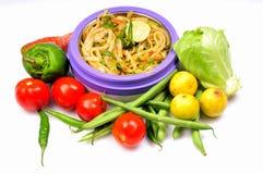 noodles πικάντικος Ταϊλανδός Στοκ φωτογραφίες με δικαίωμα ελεύθερης χρήσης