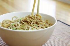 noodles σουσάμι Στοκ Φωτογραφία