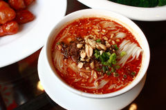 Noodles. A bowl of noodles in the eatery in beijing Royalty Free Stock Photo
