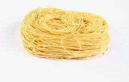 Noodles. On a white background Stock Images