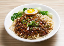 Noodles. Asian Cuisine delicious soup noodles with vegetable Royalty Free Stock Photo