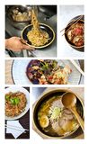 Noodles and asian gastronomy Stock Photography