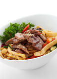Noodles with Beef Stock Images