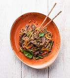 Noodles with beef Royalty Free Stock Image