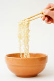 Noodles in bowl. Stock Photography