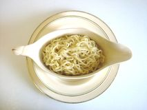 Noodles bowl. Hot spicy noodles in a bowl Royalty Free Stock Photos