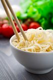 Noodles in a bowl Royalty Free Stock Images