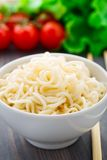 Noodles in a bowl Stock Image
