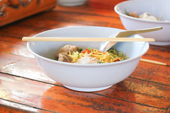 Noodles in cafeteria. Stock Photography