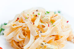 Noodles with cheese Royalty Free Stock Image