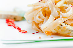 Noodles with cheese Royalty Free Stock Images