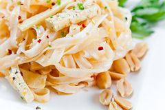 Noodles with cheese Stock Image