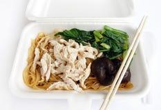 noodles chińskich na wynos zdjęcie royalty free