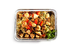 Noodles with Chicken Stock Image