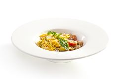 Noodles with Chicken Royalty Free Stock Photography