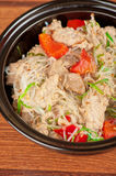 Noodles with chicken Royalty Free Stock Photo