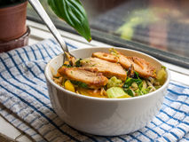 Noodles with chiken Stock Image