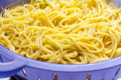 Noodles in a colander Royalty Free Stock Photo