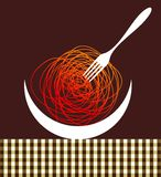 Noodles contemporary composition Royalty Free Stock Photo