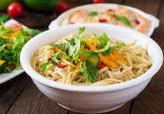 Noodles cooked in a miso broth Royalty Free Stock Photos