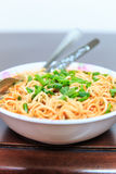 Noodles,cup,eat. Colorful noodles in a bowl to eat Royalty Free Stock Photo